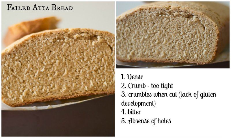 100-percent-whole-grain-whole-wheat-indian-chakki-atta-bread-recipe |kannammacooks.com #atta #bread #soft #loaf #chakki #milling #gluten #development #hard #atta #loaves