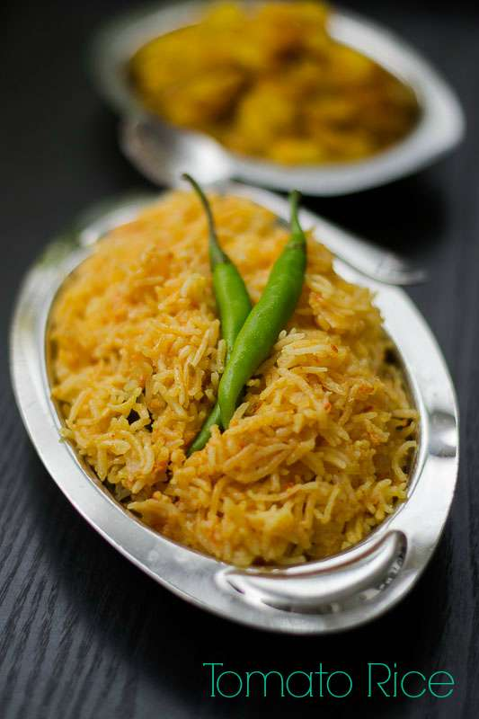 Tomato rice South Indian Tamilnadu style recipe #vegan #glutenfree #lunch #tomato #spicy #onepot #indian #variety-rice