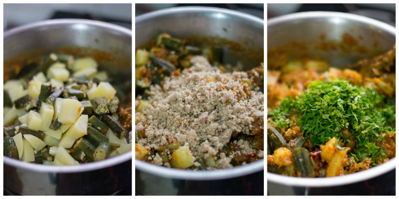 Aloo-bhindi-masala-recipe-potatoes-okra-curry-finish