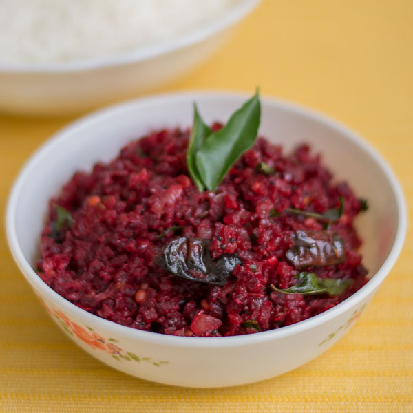 Beetroot-poriyal-without-coconut-thoran-stir-fry-Vegan-south-indian-side-dish