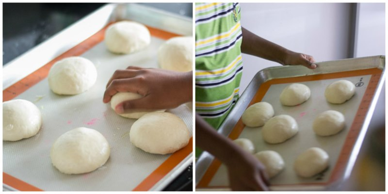 Easy-fast-rise-DIY-mini-pizza-project-for-childrens-party-third-rise |kannammacooks.com #mini #pizza #diy #dough #from #scratch #fun #with #children #pizza #project