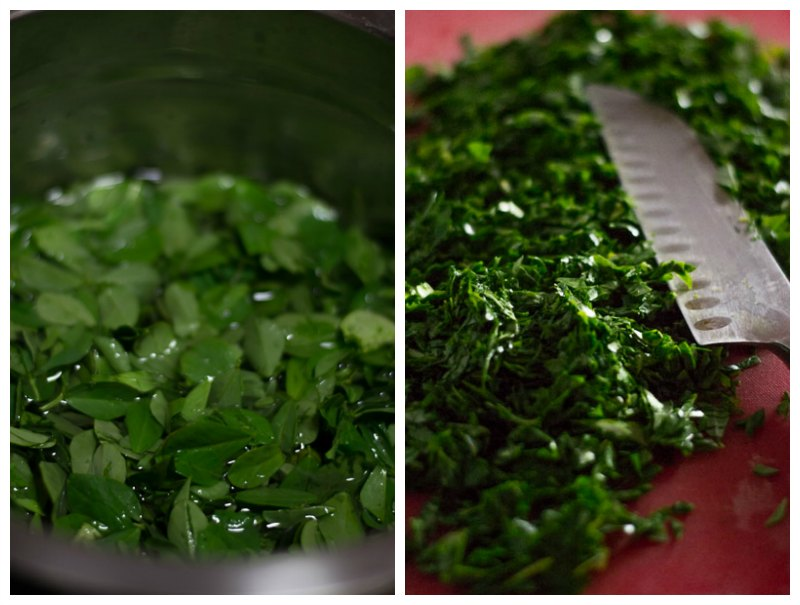 Gujarati-methi-thepla-recipe-clean-and-chop