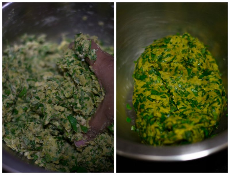 Gujarati-methi-thepla-recipe-knead