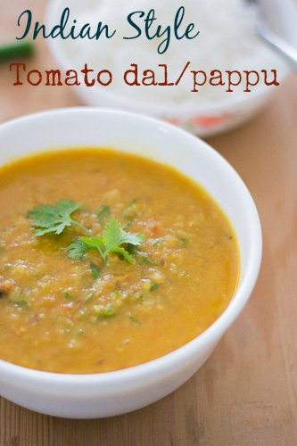 Indian-Tomato-pappu-dal-andhra-style-masoor-dal-in-tomatoes-tangy-recipe |kannammacooks.com #andhra #telugu #style #tomato #pappu #ghee #rice #dal #lunch #dal #soup #comfort