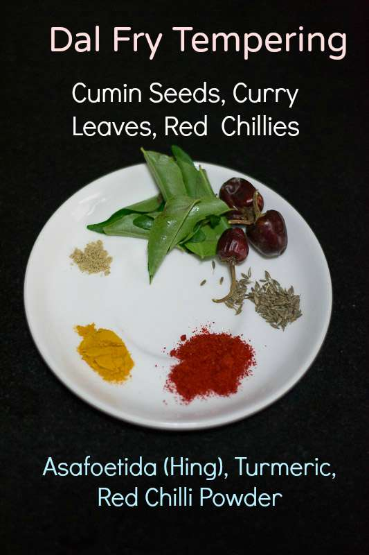 South-indian-dal-fry-tempering-ingredients