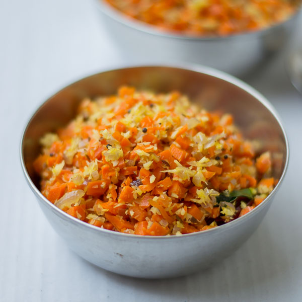 Tamilnadu style carrot poriyal with coconut carrot poriyal recipe south indian style tamil carrot poriyal recipe forumfinder Choice Image