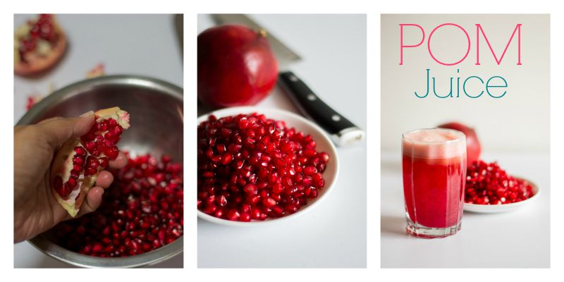 juicing-recipes-pomegranate-apple-juice-plate